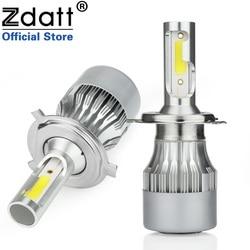 Zdatt H7 luces LED para coche H1 cascos para faros Led H4 H11 HB3 9005 HB4 9006 6000K 80W 12V 24V 8000LM faros para automóviles