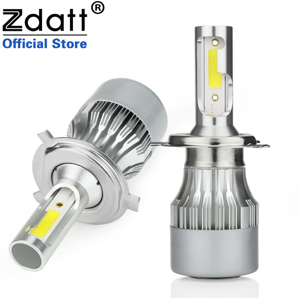 Zdatt Super Bright H4 Led Bulb H7 Auto 80W 8000Lm COB Car Led Headlight H1 H8