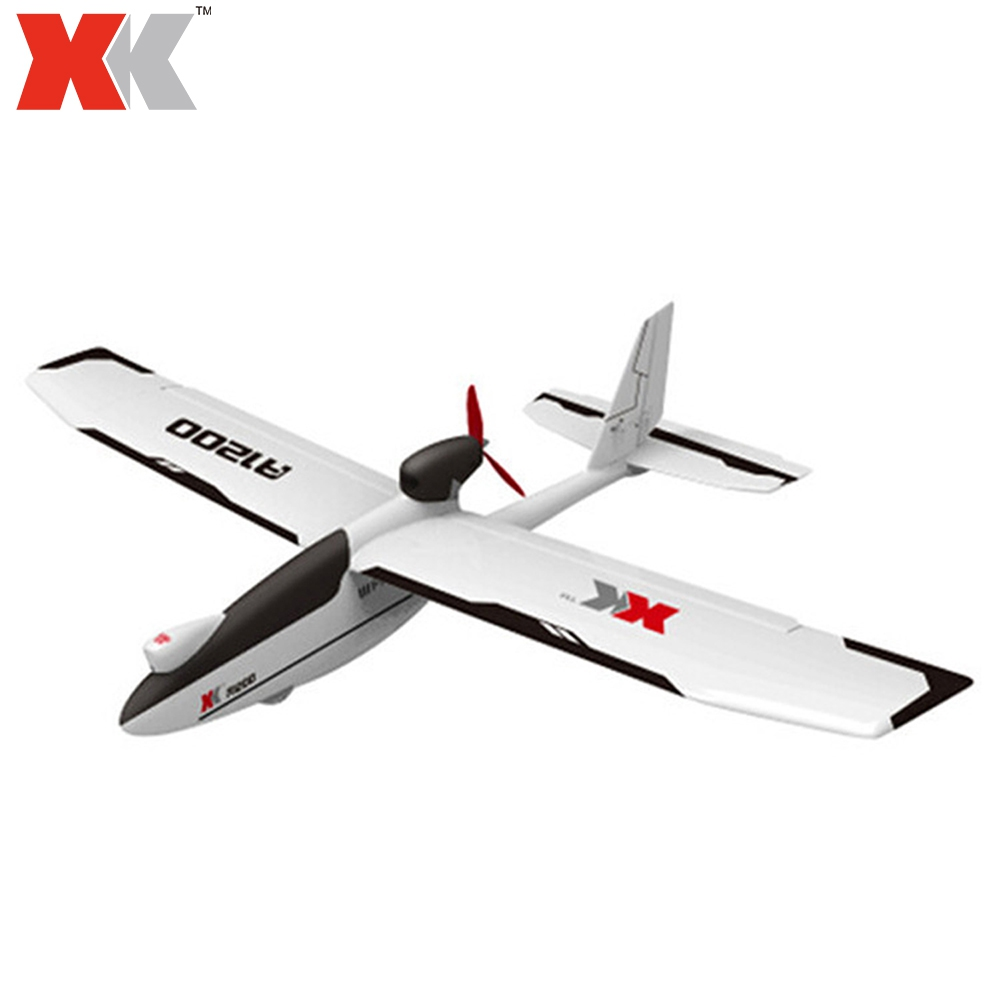 XK RC Airplanes 2.4GHz 4CH 3D 6G System with 5.8G FPV Drone EPO Foam Fixed-wing RC Airplane Brushless Motor Drones Ready-to-Go
