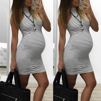 Maternity Clothes Dress Summer New Fashion Womens Pregnants Nursing Baby For Stripe Sexy Mini Daily Wholesale