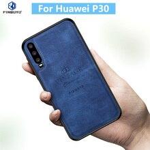 1000% Original PINWUYO VINTAGE PU Leather Hard ShockproofProtective Phone Case for Huawei P30