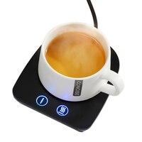 Portátil aquecedor pequeno aquecedor de Cerâmica caneca de café de vidro caixa de leite garrafa de leite aquecido esteira do copo de aquecimento