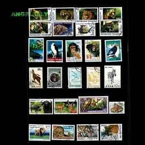 Image 5 - 200 ADET HIÇBIR Repetiton Konu Vahşi Hayvan Kullanılmayan Posta Pulları, posta pulları Sonrası Işareti Koleksiyonu 200