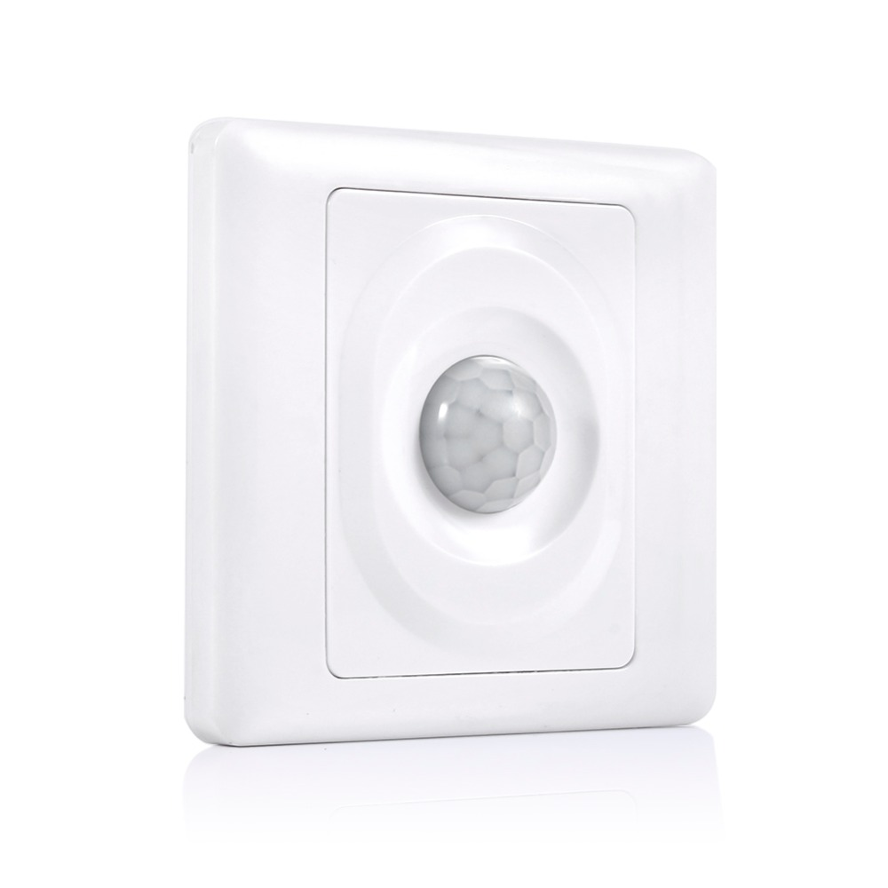 Adjustable Infrared IR Body Motion Sensor Switch Wall Mount Control Light Switch IR Infrared Movement Induction Detector Switch