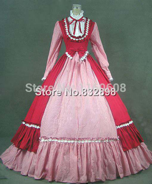 Victorian Gothic Dress Ball Gown Prom Steampunk Punk Reenactment Dresses