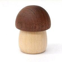 Милый диспенсер для бумаги в форме гриба, магнитный деревянный держатель для канцелярских принадлежностей, Канцелярский держатель для бумаги, магнитный держатель для бумаги