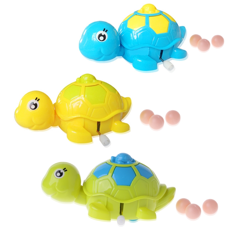 Baby Boy Girls Animal Tortoise Clockwork Wind-up Funny Toy Child Education Toy