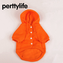 PERTTYLIFE Fashion Dog Clothes Warm Pet Hooded Solid Color Cotton Sweater Hoodie Clothing for Dog Chihuahua  Small Dog CLT86