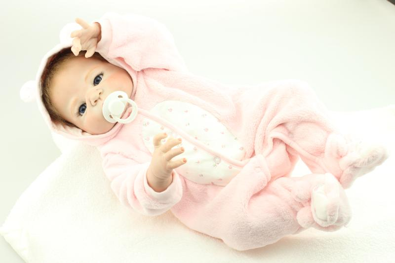 57CM 100 full silicone reborn baby dolls Realistic bonecas reborn babies girl gender  NPK Doll toys for children57CM 100 full silicone reborn baby dolls Realistic bonecas reborn babies girl gender  NPK Doll toys for children