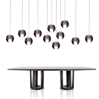 Umeiluce Remote Dimming Modern Lamps Led Pendant Chandelier Lights Balls Transparent Crystal Globes Stairs