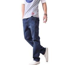 2016 men loose jeans pants long denim jeans designer,men plus size denim pants designer jeans men 28-42
