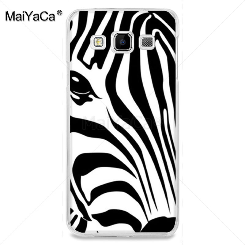 Maiyaca Lovely Cartoon Animal Zebra Horse Stripe Fundas Phone Case