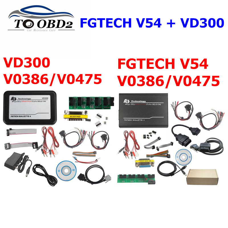 Fgtech Galletto 4 Master V54 FG-tech 2 Galletto V54 VD300 0386/0475 Support BDM Full Function Unlimite Obd2 Auto ECU Chip Tuning