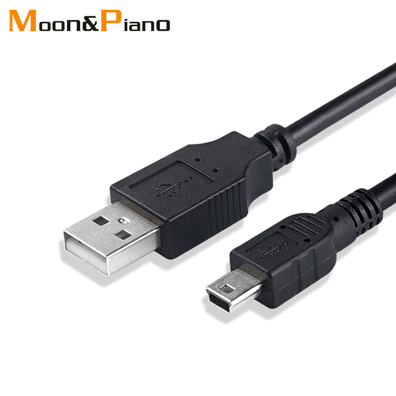 <font><b>Mini</b></font> <font><b>USB</b></font> 2.0 <font><b>Cable</b></font> 5Pin <font><b>Mini</b></font> <font><b>USB</b></font> to <font><b>USB</b></font> Fast Data Charger <font><b>Cables</b></font> for MP3 MP4 Player Car DVR GPS Digital Camera HDD Smart TV image