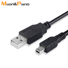 Mini USB 2.0 Cable  5Pin Mini USB to USB Fast Data Charger Cables for MP3 MP4 Player Car DVR GPS Digital Camera HDD Smart TV
