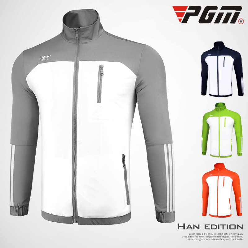 PGM Men comfortable and warm Golf Jackets Anti-Pilling Windproof Breathable Top Quality Autumn Men's Sports Golf windbreaker pgm autumn winter waterproof men golf trousers thick keep warm windproof long pants vetements de golf pour hommes golf clothing