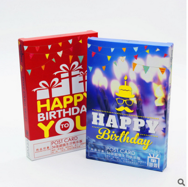 """36 pcs/lot """"Happy birthday card postcard"""" Greeting Card commemorate Post cards Birthday Gift Card Set"""