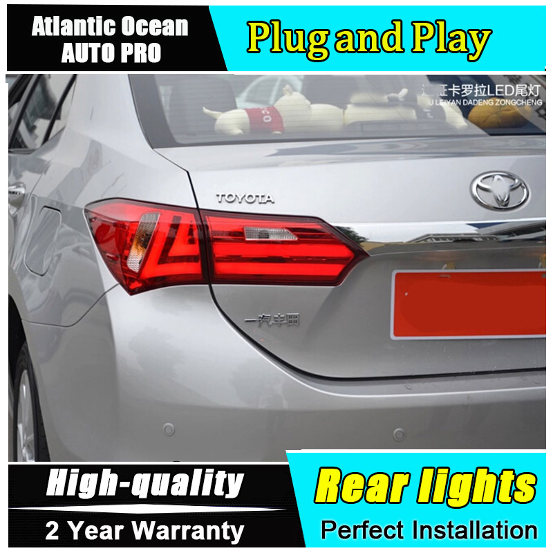 2014 2018 For Toyota Corolla LED rear lights LED taillights car styling trunk lamp Fog Light