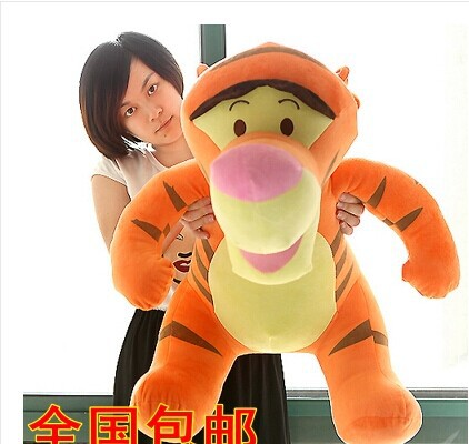 stuffed 80 cm cute Tigger plush toy tiger throw pillow doll high quality goods gift w5426 30cm plush toy stuffed toy high quality goofy dog goofy toy lovey cute doll gift for children free shipping