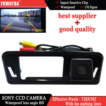 FUWAYDA SONYCCD Chip Sensor Special Car RearView Reverse Mirror Image CAMERA for Subaru XV With Guide Reference Line WATERPROOF image