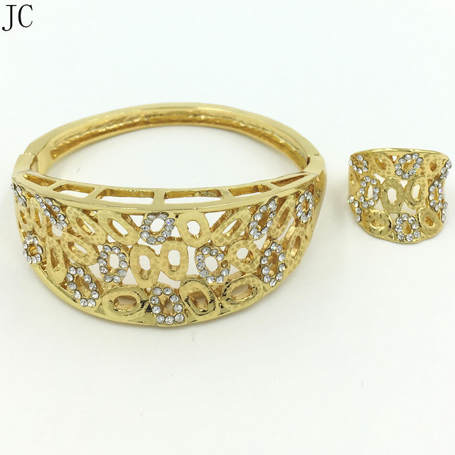 NEW DESIGN good quality dubai gold jewelry sets bangle ring sets