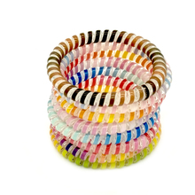 цена на 8 pcs/Lot Size 5 CM Colorful Hairband Hair Rubber Rope Tie Telephone Wire Line Gum Hair Ring  Headband For Women Girl