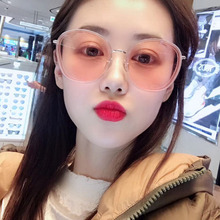 New Korean version Circular large frame sunglasses Personality Transparent Sunglasses Simplicity Sun glasses