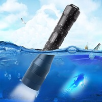 SecurityIng Waterproof Wide 120 Degrees Beam Angle Scuba Diving Photography Video 1050Lm 150M XM L2 U4