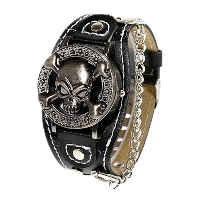 Hot Sale Skull Watch Men Watch Punk Clamshell Fashion Watches Men's Watch Clock relogio masculino erkek kol saati reloj hombre