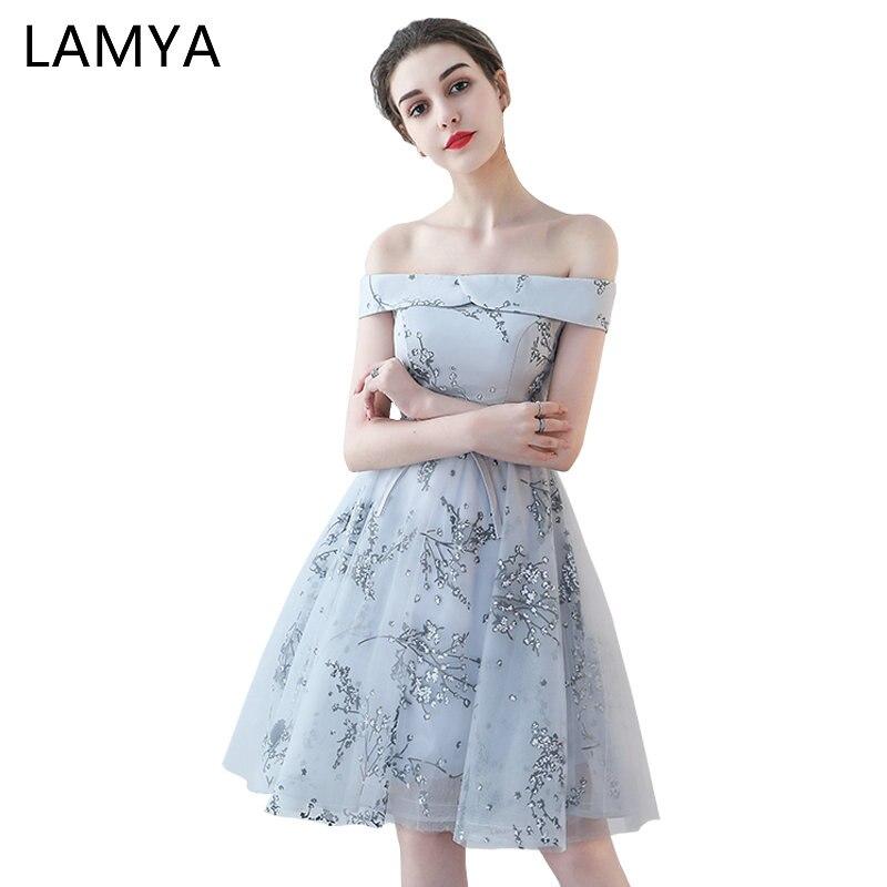 LAMYA courte impression sans manches robes De demoiselle d'honneur simples robes De fête Sexy pour mariage De moins De 50 Vestidos De Festa