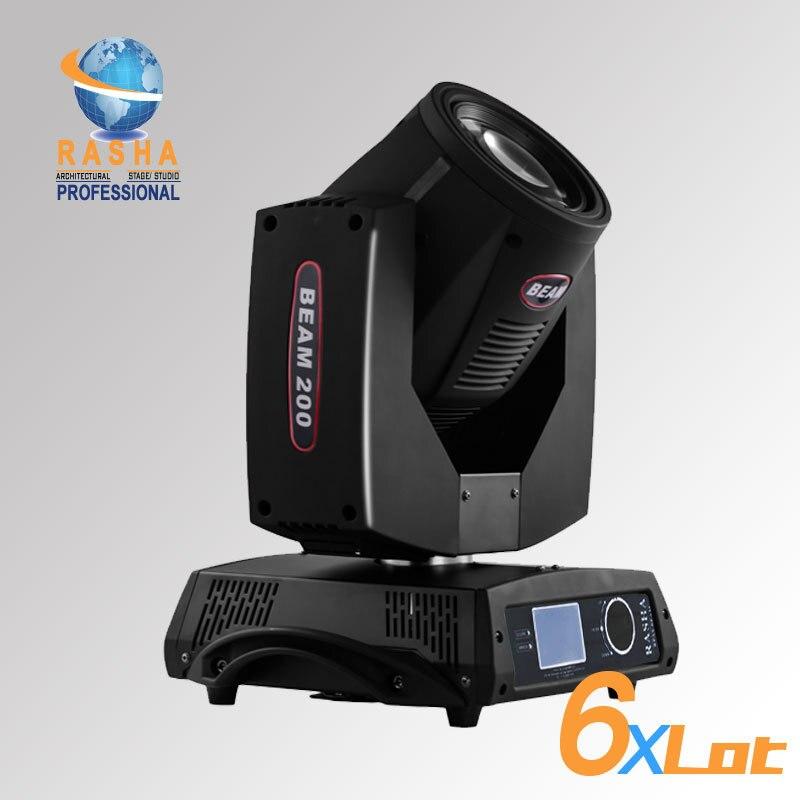 6X LOT 5R 200 W Sharpy faisceau 20 canaux faisceau de tête mobile Gobo + effets de faisceau avec moteur 3 phases + écran tactile LCD
