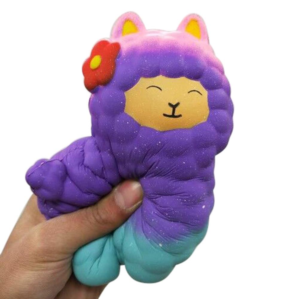 MUQGEW Jumbo Sheep Squishy Cute Alpaca Galaxy Super Slow Rising Scented Fun Animal Toys lowest price oyuncak#JD