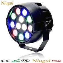 HOT 12x3W led flat par/Led Stage Light/mini Par Light With DMX512/disco DJ projector machine /Party christmas Decoration lights