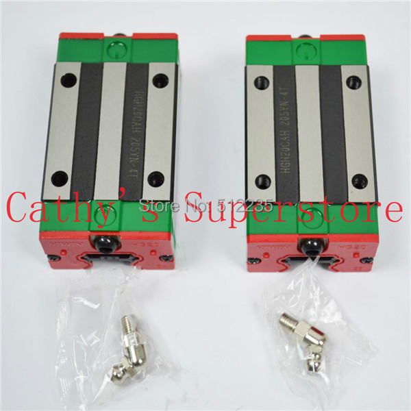 Open Linear Bearing Slide Block HGH20CA for Square Linear Guide Rail HIWIN linear block carriage hiwin square guide rail mini pcb drilling machine