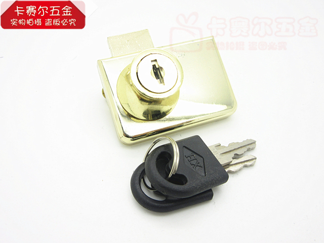 Golden Glass Glass Cabinet Door Lock Zinc Alloy Showcase Push