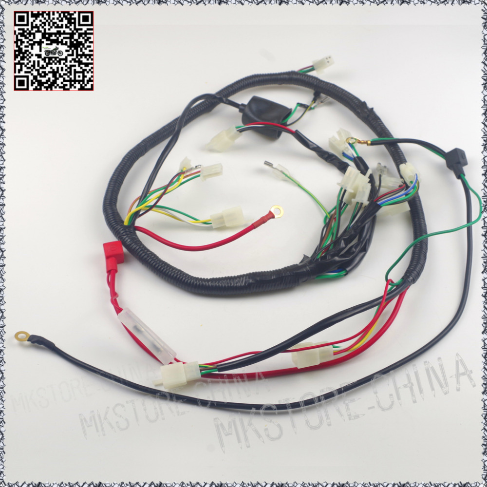 Free Shipping Complete Electric Start Engine Wiring Harness Loom 110 Tank 150cc Atv Diagram Wireloom Assembly Scooter Gy6 Quad Bike Atomik Lei