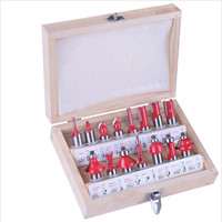 1 2 12 7mm 15pcs Carbide Shank Wood Router Set Woodworking Cutter Trimming Knife Forming Milling