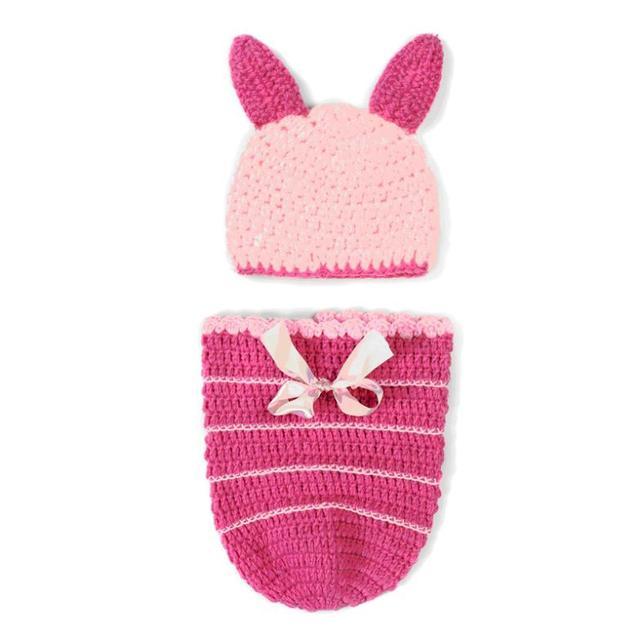 pink animal miss piggy crochet baby girl hats caps beanies diapers
