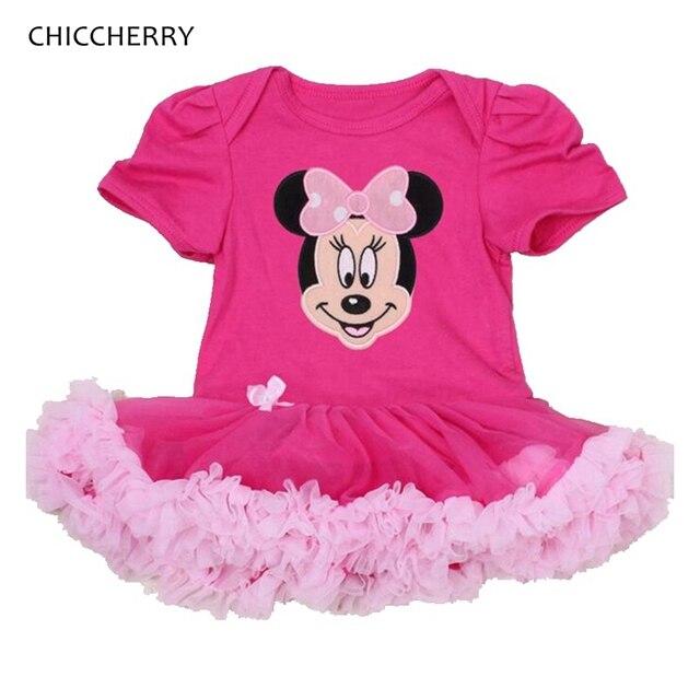 62b310d24e93 Fantasia Minnie Baby Girl Dress Lace Tutu Romper Vestido Infantil ...