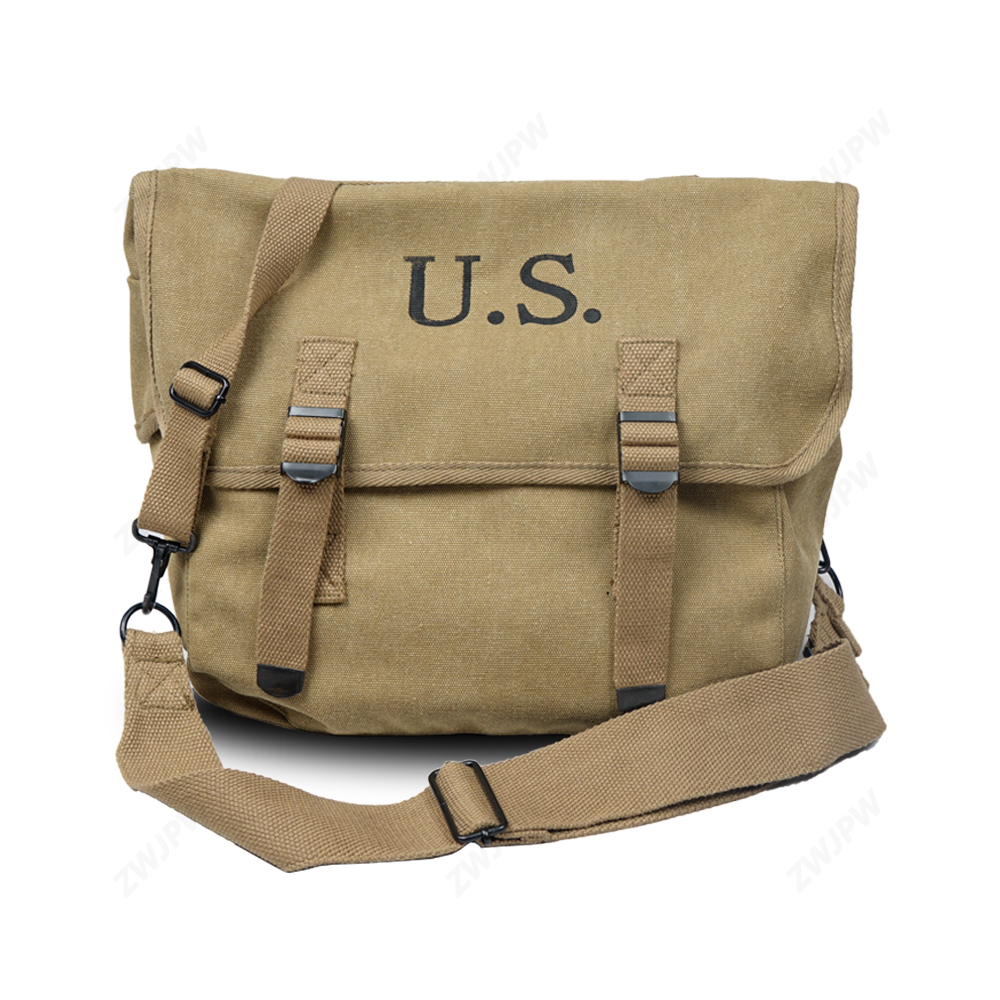WWII WW2 US Army M1936 Musette Field M36 Backpack Haversack Bag Khaki -