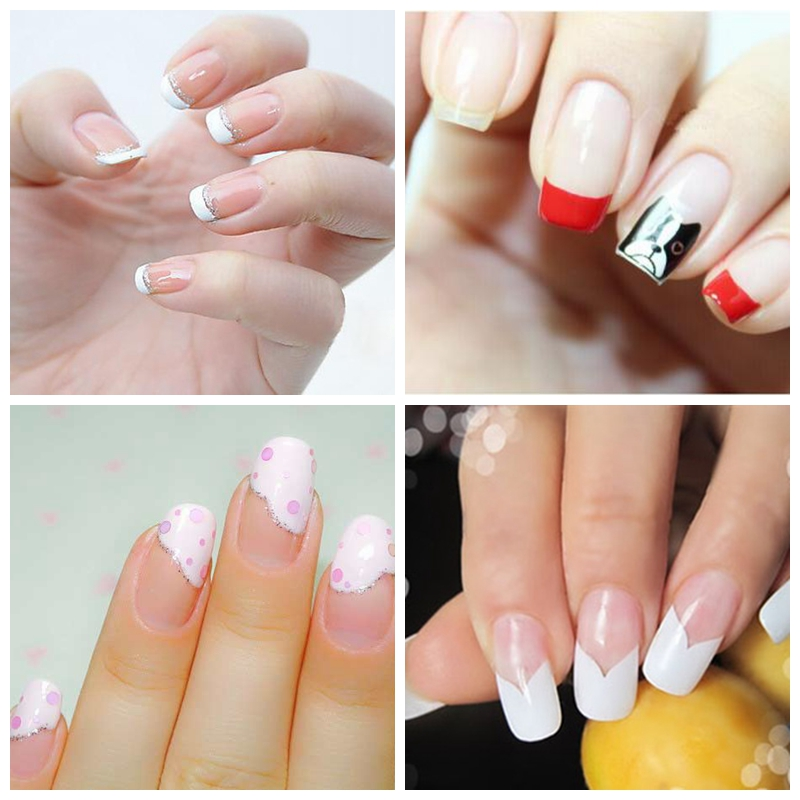 1 Pack White French Nail Stickers Manicure Strip Nail Art Decoration French Manicure Nail Art Decals For Nail DIY Styling Tools