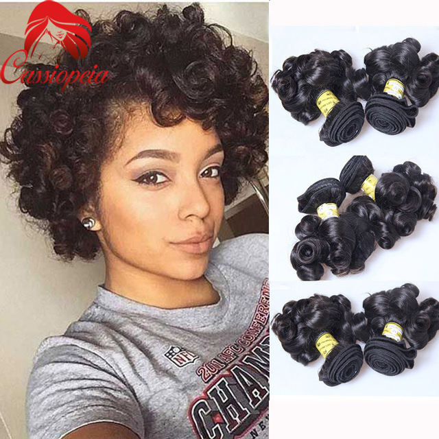 Cheap Peruvian Virgin Hair Bob Boucy Curly Short Hair Weave 3