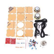 Мини 3 Вт динамик коробка DIY Kit с прозрачной оболочкой компьютера аудио электронные компоненты