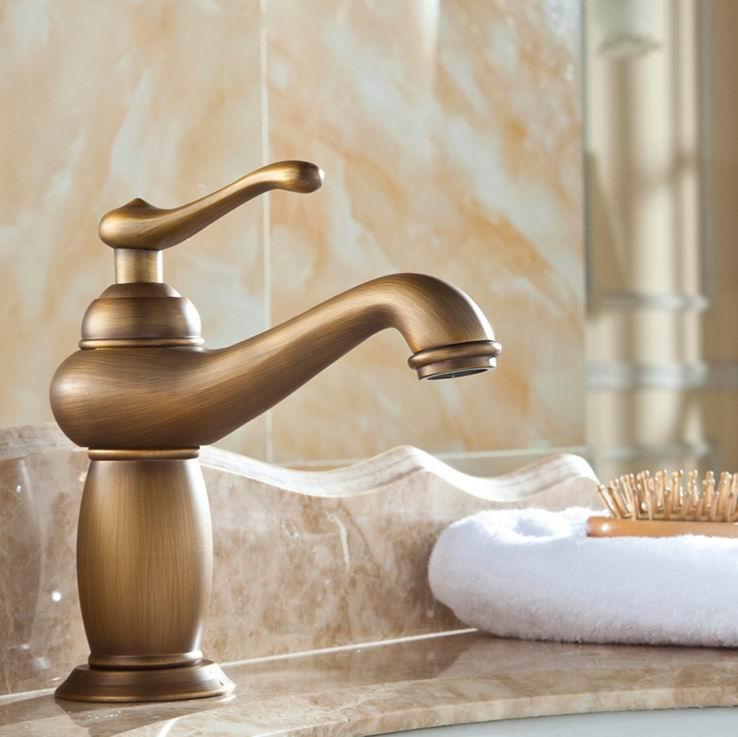 European Continental retro antique copper faucet full bathroom ...