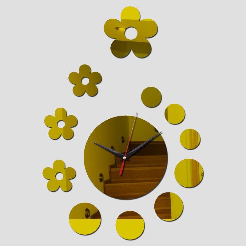 2017 new Wall Clock Horloge Modern Design flower picture Large ...
