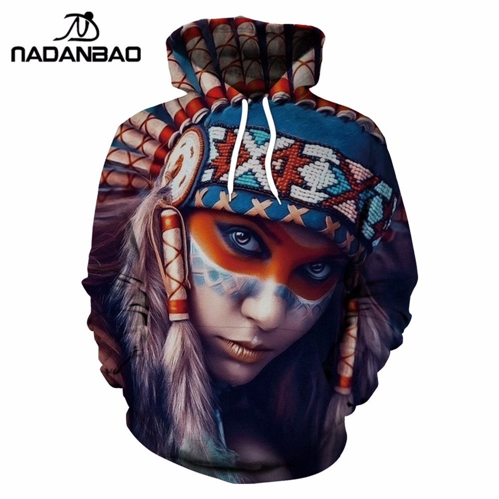 NADANBAO New Arrival Tribal Women Hoodies Bts Literature and art Style Sweatshirt Beautiful Girl 3D Printed Hoody