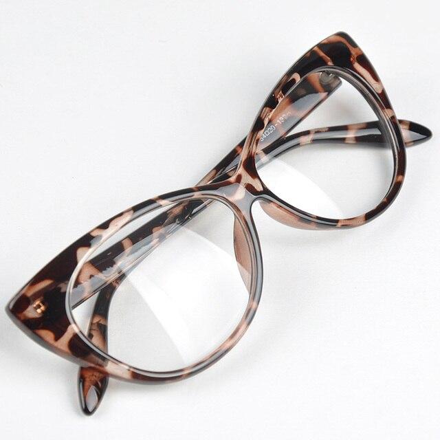 ce74ed9128a9 Plain Eye Frame Spectacle Cat Eye glasses Eye Styling Leopard Eyeglasses  Frame Women Brand Birthday Gift