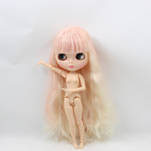 Factory Neo Blythe Doll Pink Golden Hair Jointed Body 30cm