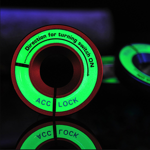 Luminous Ignition Key Ring Switch Sticker for Volkswagen VW GOLF 4 5 6 7 JETTA MK6 MK5 POLO Passat B5 B6 B7 For Skoda Octavia(China)