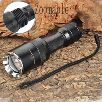 Ultrafire Tactical Flashlight XM LT6 LED Flashlight Zoom 5 Mode Torch Light flashlight 18650 flashlight power flash light led dr